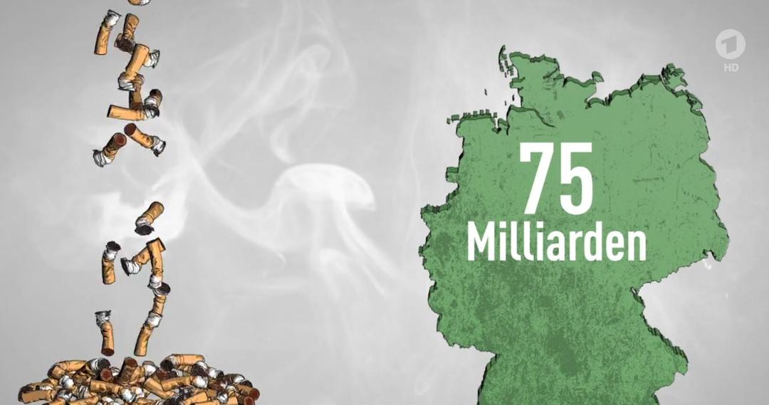 Zigarettenkippen vergiften die Umwelt