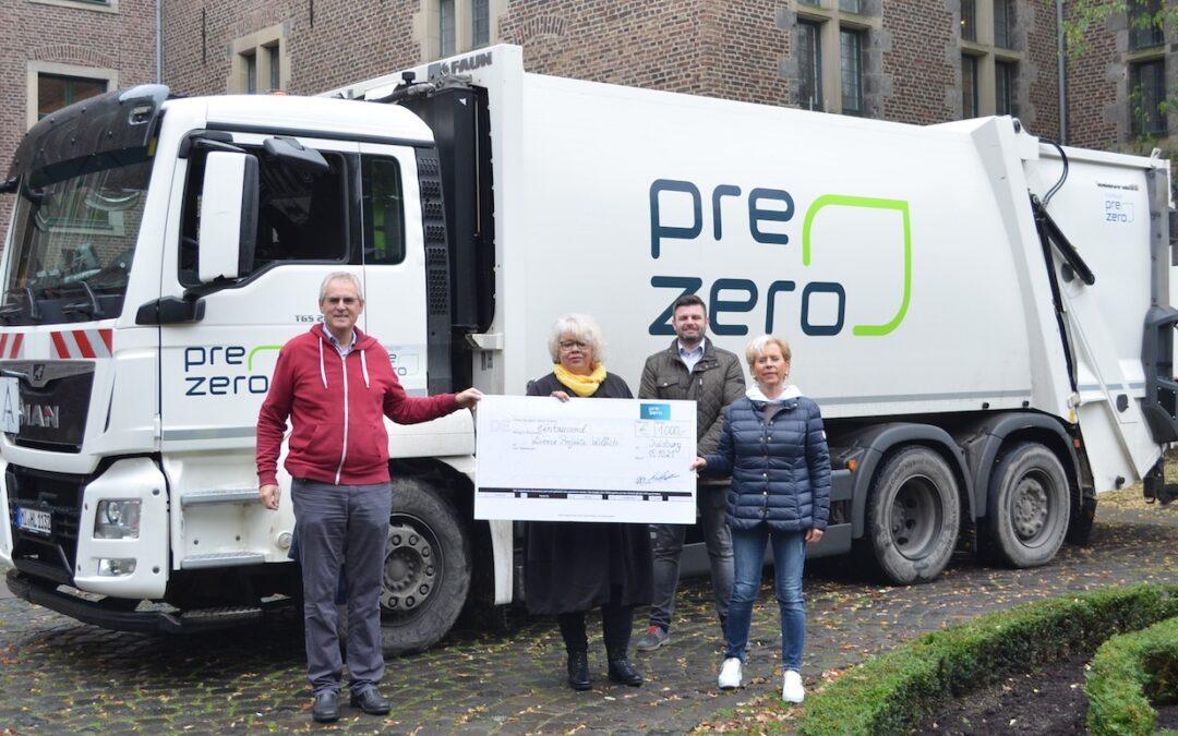 Umweltdienstleister PreZero unterstützt unser Projekt